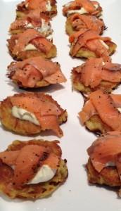 Potato Rosti with Smoked Salmon Pastrami